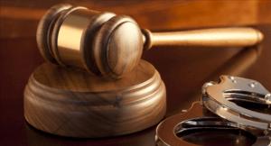 Bail Bonds Court Gavel And Hand Cuffs